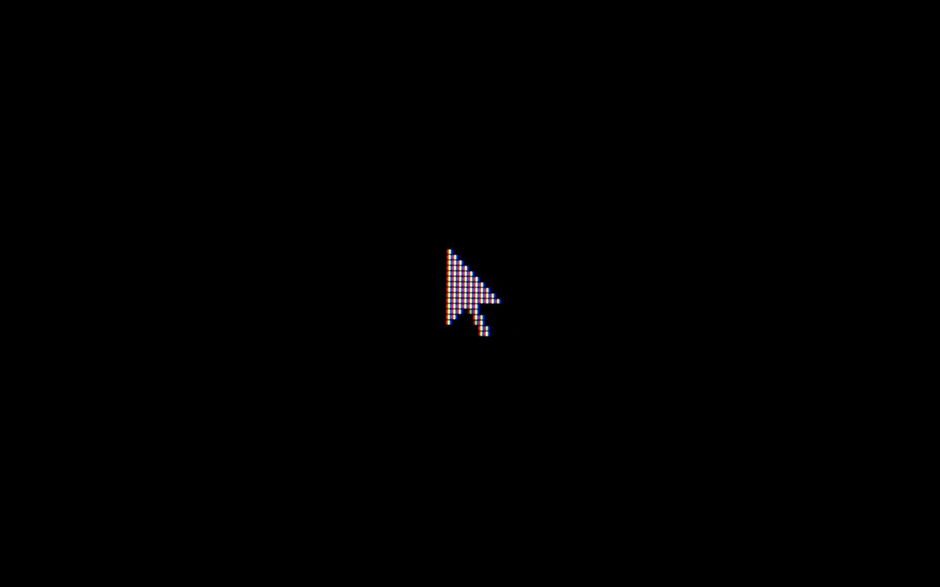 Cursor på LED baggrund