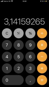 Lommeregneren i Apples iOS 14 - 2021