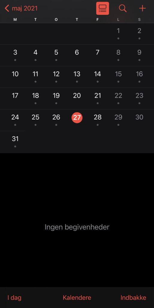 Apples Kalender App