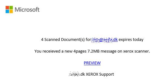Eksempel på Phishing mail 2021